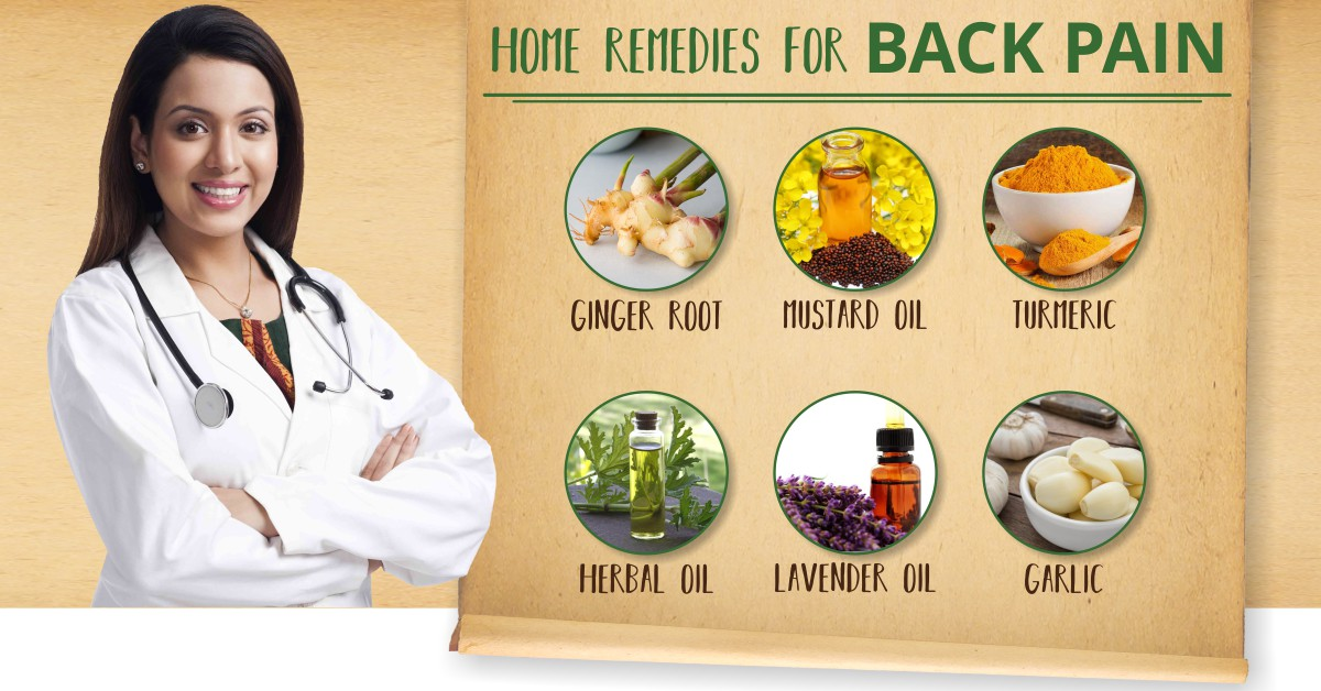 Home Remedies_back Pain_infographics_ Initially We Associated A Backache